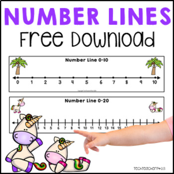 It is a photo of Resource Number Line to 20 Printable