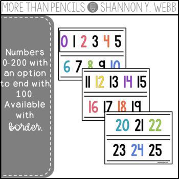 Number Line 0-200 (Brights)