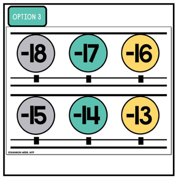 Number Line 0-200 (Teal, Gray, Yellow)