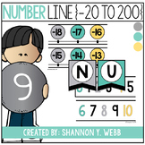 Number Line -20 to 200 (Teal, Gray, Yellow)