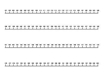 Number Line 0-500