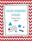 Math Bulletin Board - Red