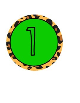 Number Line 1-10 Jungle Themed