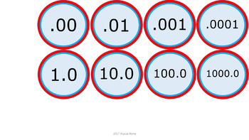 Number Line 1-100 & Decimals - Dr. Seuss Tribute Colors