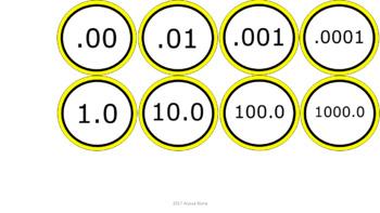 Number Line 1-100 & Decimals - Yellow Border