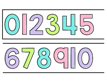 Number Line 1-120 Bright Colors