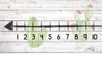 Number Line 1-120 ~ Cacti