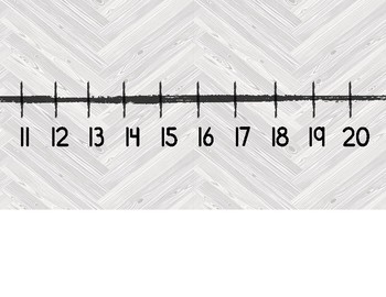 Number Line 1-120 ~ Farmhouse Gray