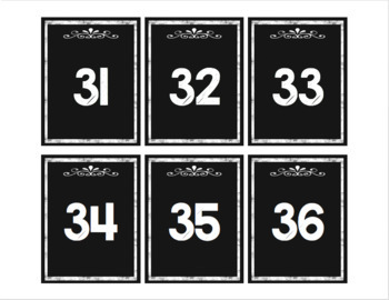 #roomdecor Classroom Decor Number Line 1-120 on Black Chalkboard