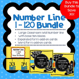Number Line 1-120 with Base Ten Blocks and Add-On Cards
