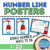 Number Line 1-20: Gumballs with Bonus Student Mats