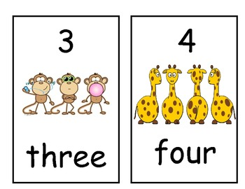 Number Line 1-20 Jungle Theme