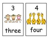Number Line 1-20 Jungle Theme