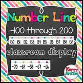 Number Line -100 through 200 Classroom Display