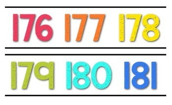 Number Line 121-200 {White Series}