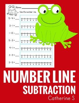 Subtraction on a Number Line Worksheets