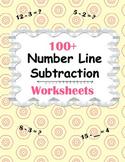 Number Line Subtraction Worksheets