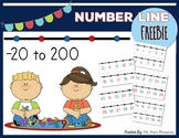 Number Line -20 to 200