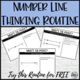 FREE Math Warm Up Number Line Thinking Activity