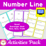 Number Line Activities: Scavenger Hunt, Share-Share-Switch, Scoot