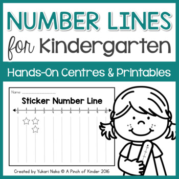Number Lines for Kindergarten: Hands-On Centres & Printables