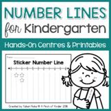 Number Lines for Kindergarten: Hands-On Centres & Printables