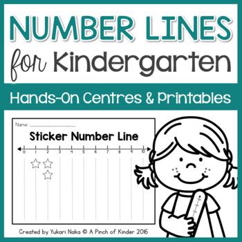 Number Lines for Kindergarten: Hands-On Centres & Printables | TpT