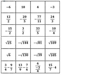 Number Line Activity and Task