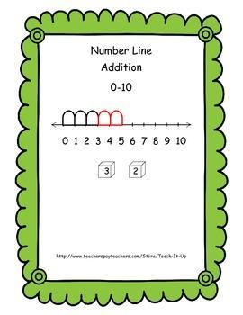 Number Line Addition 0 - 10   (K - 1)
