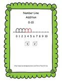 Number Line Addition 0 - 10   (K - 1)