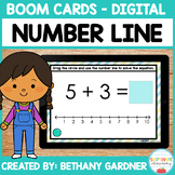 Number Line Addition - Boom Cards - Distance Learning