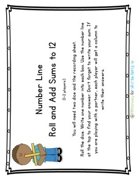 Number Line Addition Freebie