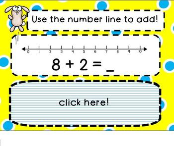 Number Line Addition SMARTBoard Lesson