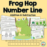Number Line Addition & Subtraction Frog Hop K.OA.2  & 1.OA.6