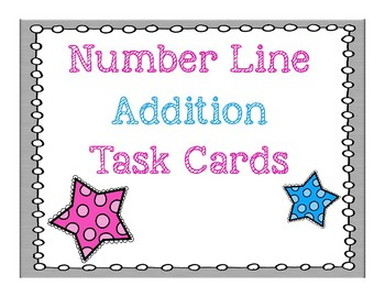 Number Line Addition Task Cards