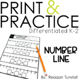 Number Line Addition and Subtraction Print & Practice