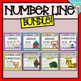 Number Line Addition and Subtraction Bundle - Worksheets and Printables