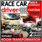 Number Line Addition and Subtraction   Race Car Room Trans
