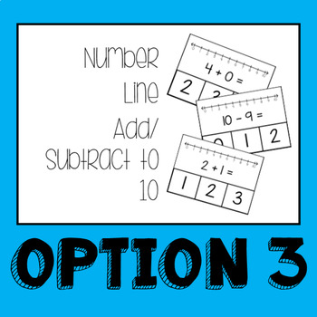 Number Line Addition and Subtraction Task Cards