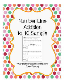 Number Line Addition to 10 Sample