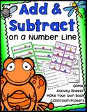 Addition & Subtraction on a Number Line Game, Worksheets,