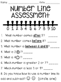 Number Line Assessment