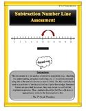 Number Line Assessment - Subtraction (Editable)