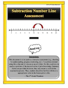 Number Line Assessment (Subtraction Multiples of 10) Rubri