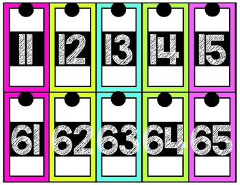 Number Line BLACK AND BRIGHTS