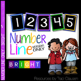 Classroom Decor Labels - Number Line - BRIGHT
