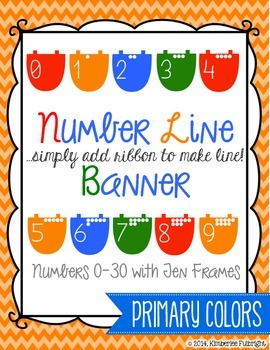 Number Line Banner Primary Colors (add ribbon)