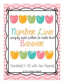 Number Line Banner (add ribbon)