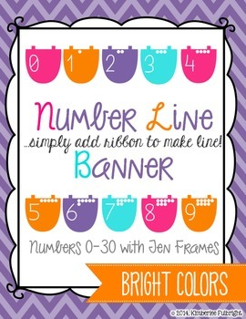 Number Line Banner Bright Colors (add ribbon)