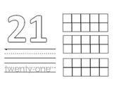 Number Line Book (21-30)